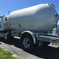 large propane delivery truck